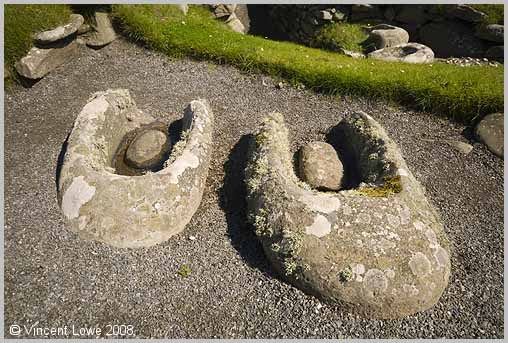 A pair of querns found at Jarlshof on the Shetland Islands